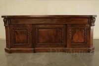 Old World Carved Desk, Escritorio Doble Soga - Demejico
