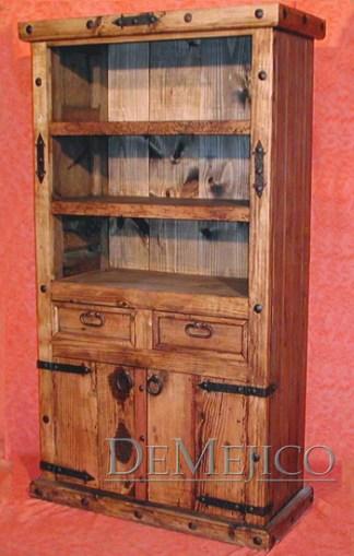 old world bookcase