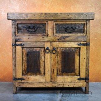 old wood vanity