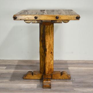 old wood bar table