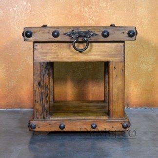 Escondido Old Door End Table, Rustic End Table
