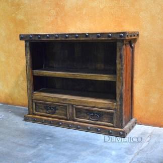 Custom Old World Bookcase, Rustic Bookcase, Spanish Bookcase