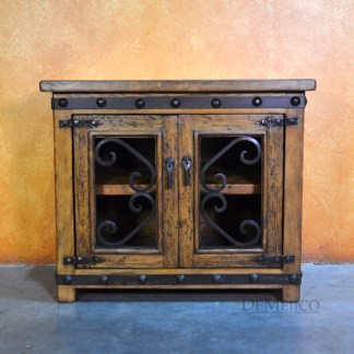 Spanish TV Console, Old Wood TV Stand