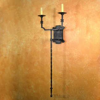 Tall Wall Sconce, Long Wall Sconce, Spanish Wall Sconce