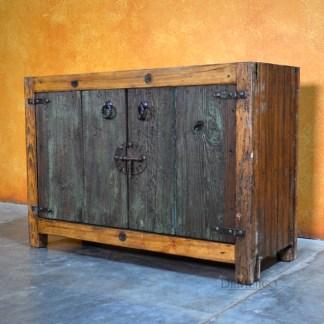 Puerta Vieja Vanity, Spanish Vanity, Old Wood Vanity