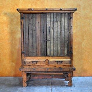 Armario Yugos, Rustic Armoire, Tall Armoire, Antique Old Door Armoire