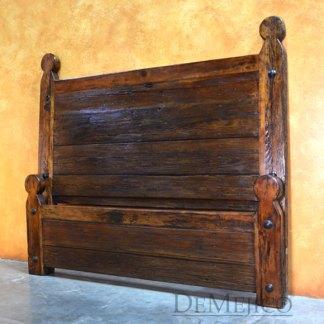 Original Old Door Hacienda Bed, Rustic Headboard
