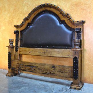 spanish leather bed
