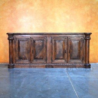 4 Door Concha Spanish TV Stand, Old World TV Stand