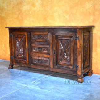 Small Luis Quince Buffet, Spanish Colonial Buffet