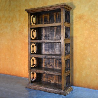 4ft Espanola Bookcase, Rustic Bookcase, Large Spanish Bookcase