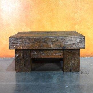 Vigas Coffee Table, Small Reclaimed Door Coffee Table