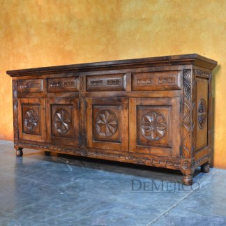 Medallon Buffet, Spanish Colonial Buffet, Spanish Carved Buffet