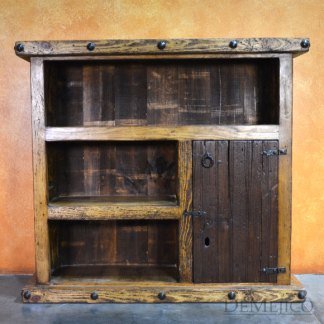 Small Old Wood Bookcase, Rustic Bookcase, Spanish Bookcase