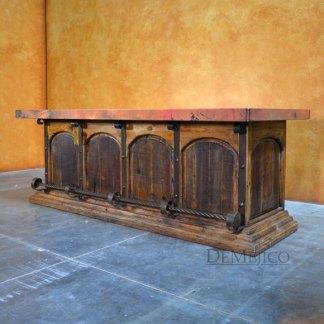 Copper Barra Santos, Rustic Style Bar, Spanish Bar, Copper Top Bar