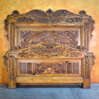 Cama Ángel, Spanish Carved Bed, Spanish Bed