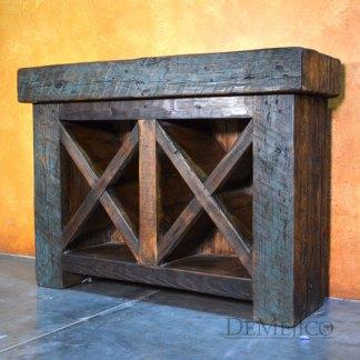 Troje Old Wood Wine Cabinet, Rustic Wine Rack, Rustic Wine Storage