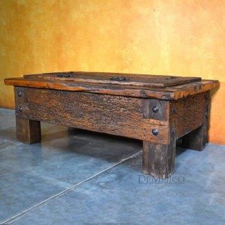Rustic Storage Coffee Table, Old Door Coffee Table
