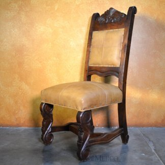 spanish carved dining chair