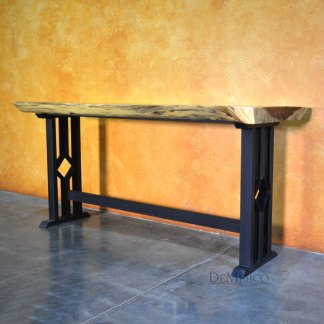 Modern Live Edge Console Table, Rustic Console Table, Live Edge Table, Natural Wood Console Table