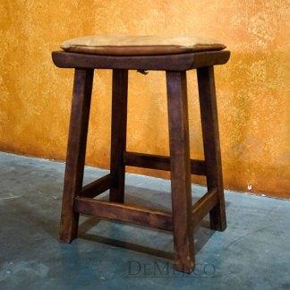 Leather Saddle Stool, Spanish Counter Stool