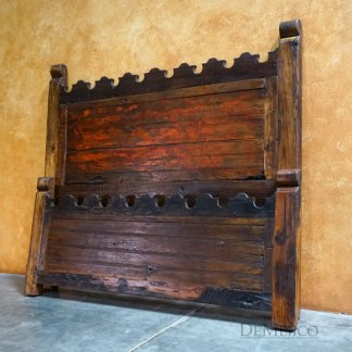 Rustic Headboard, Old Door Hacienda Bed