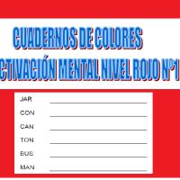 Serie 1 rojo: Cuaderno en pdf de ejercicios de estimulación cognitiva. Deterioro leve.