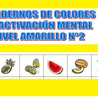 Serie 2 amarillo: Cuaderno en pdf de ejercicios de estimulación cognitiva. Sin deterioro