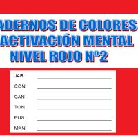 Serie 2 rojo: Cuaderno en pdf de ejercicios de estimulación cognitiva. Deterioro leve.