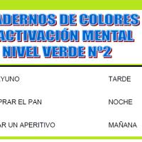 Serie 2 verde: Cuaderno en pdf de ejercicios de estimulación cognitiva. Deterioro moderado.