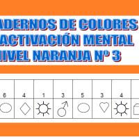 Serie 3 naranja: Cuaderno en pdf de ejercicios de estimulación cognitiva. Deterioro muy leve.