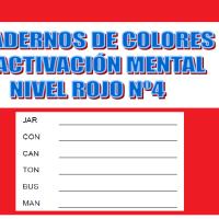Serie 4 rojo: Cuaderno en pdf de ejercicios de estimulación cognitiva. Deterioro leve.
