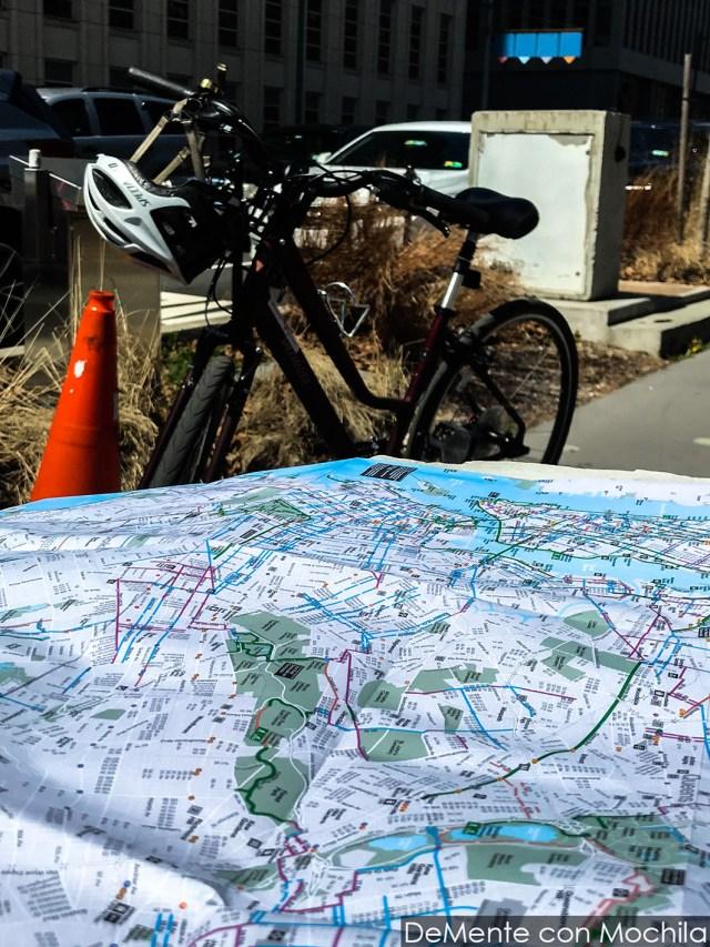 Mapa Nueva York con ciclovías