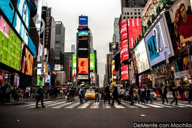 La locura cotidiana de Times Square