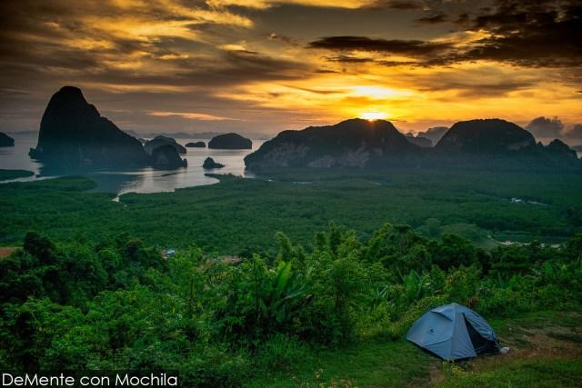 Vista desde el mirador Samet Nangshe