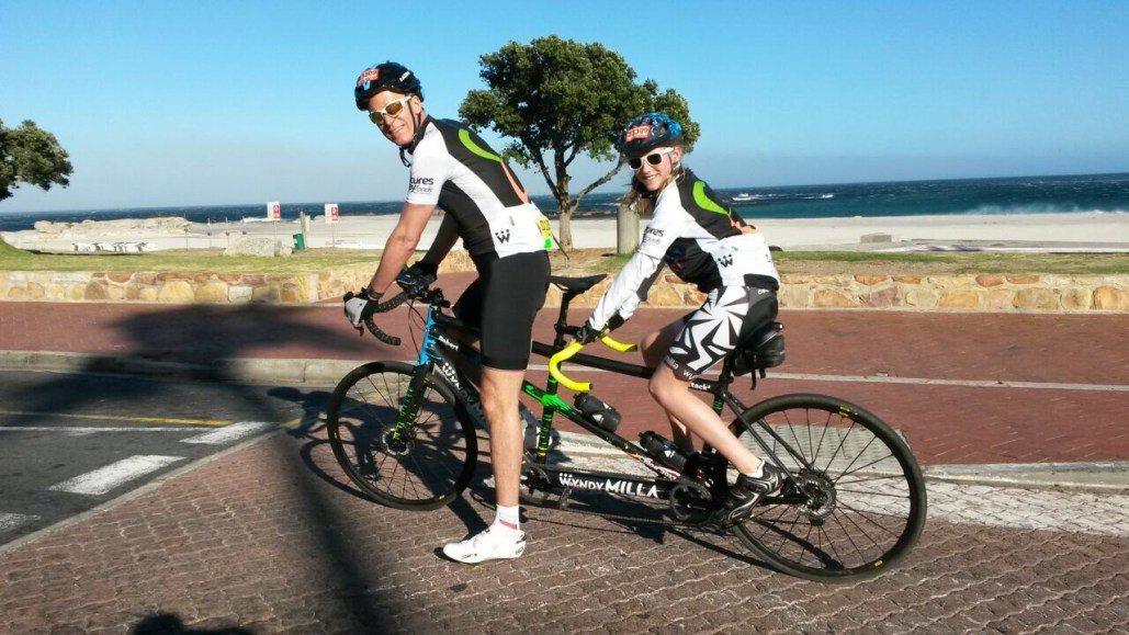 Photo of Robert and Chloe Langmead in South Africa for Cape Argus Challenge