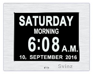 clocks for people with dementia. Large digital display with day, time and date displayed clearly