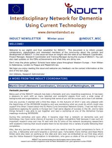 Cover of Winter 2020 newsletter