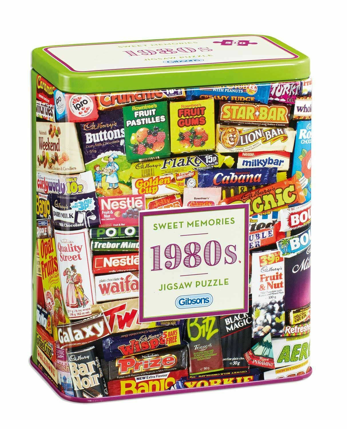 1980s Sweet Memories Jigsaw 500 pieces at www.dementiaworkshop.co.uk