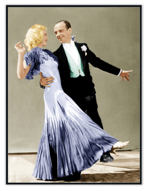 Fred Astaire & Ginger Rodgers Wall Art at www.dementia-activities.co.uk