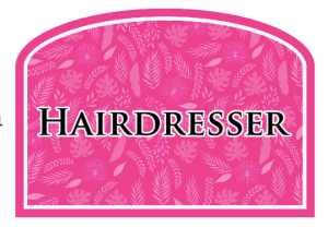 Hairdresser Hair Salon Sign Pink
