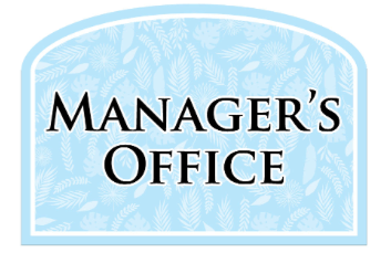 Manager's Office Sign