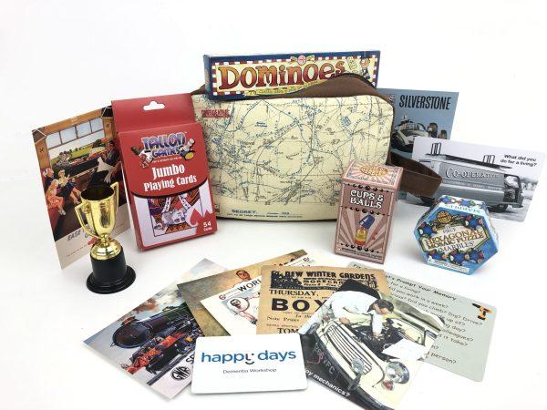 Travel & Games Activity Bag www.dementiaworkshop.co.uk