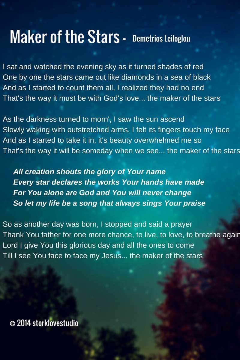 Maker of the Stars Lyrics