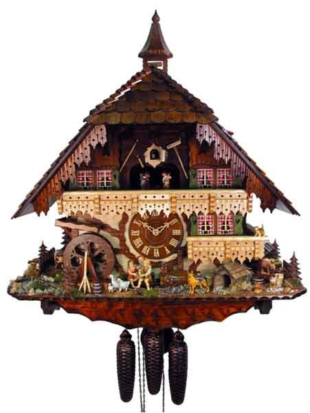Orologio a cuc K042 Orologi a cucu  presepi  sculture in legno  Val Gardena  Demetz Patrick
