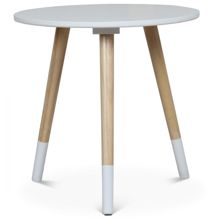 table basse scandinave blanche gjokta diametre 40 cm