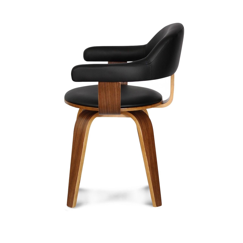 Chaise Design Scandinave Rotative Noire PYRIV Demeure