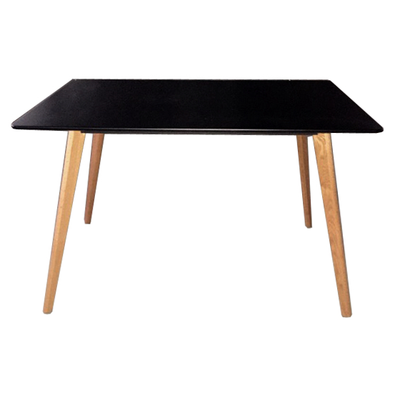 table rectangulaire plateau noir style design scandinave