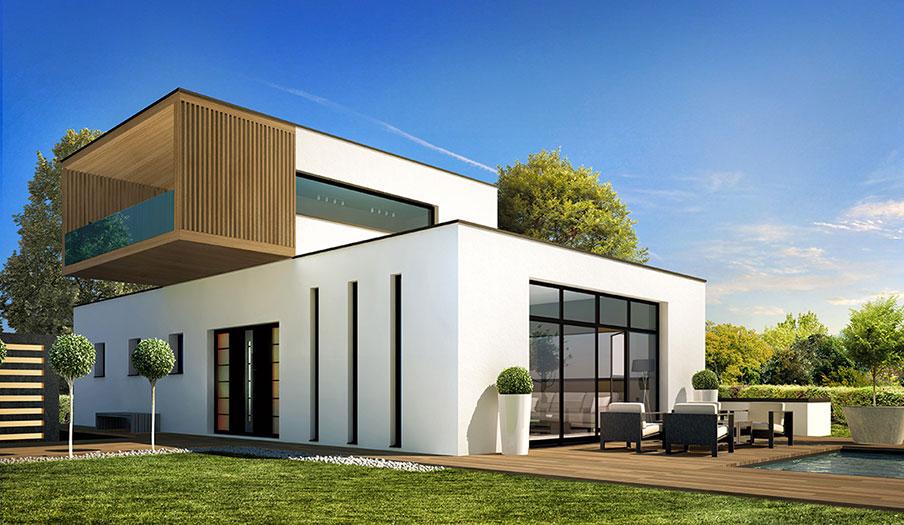 Maison modèle Sequoia (modèle maison contemporain) - Demeures d'Aquitaine Constructeur maison individuelle Aquitaine Gironde (33)