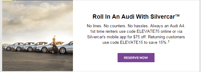 Silvercar $75 Discount and Great Customer Service | DEM Flyers